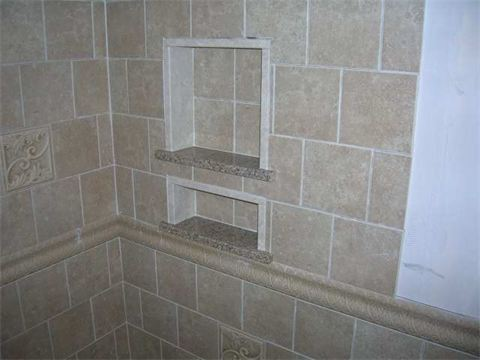 Tile Shower Niche