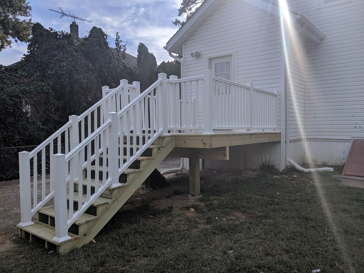 Back deck - After